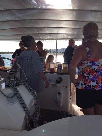 خليج سيمبسون, سانت مارتن: Enjoying the rum punch!