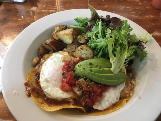 Lenox, MA: huevos rancheros (w/o the sour cream)