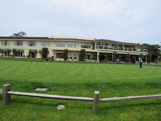 Putting Green At Pebble Beach Resort Outside The Tap Room