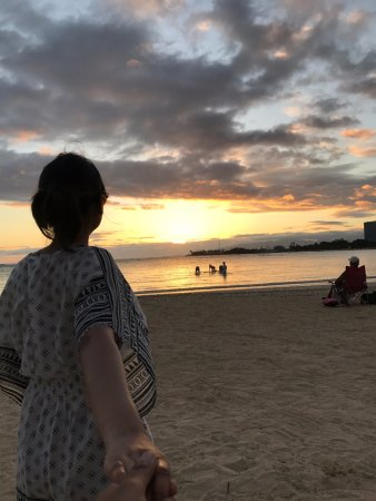 Ala Moana Beach Park: We just tried the style of Murad Osmann and yeah it worked very well with sunset view :)