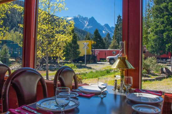 Dunsmuir, CA: View from your table in our Great Northern Car