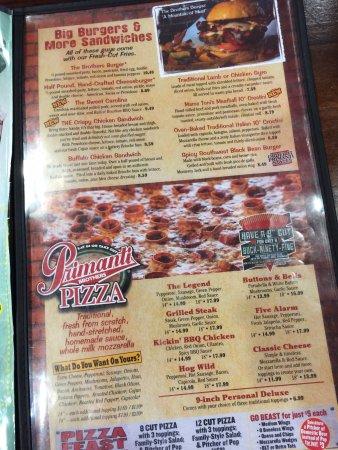 Hagerstown, MD: menu