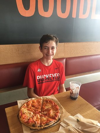 The Colony, TX: A boy and his fav pizza