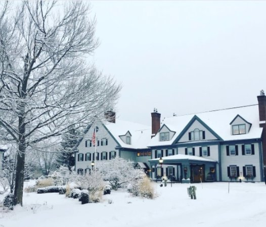 The Essex, Vermont's Culinary Resort & Spa: Winter front view of main building
