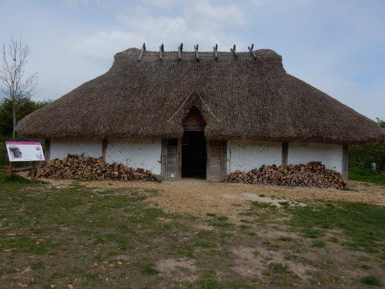 Chalton, UK: The Saxon dwelling at Butser Ancient Farm.