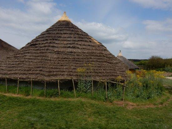 Chalton, UK: An Iron Age round house at Butser Ancient Farm.