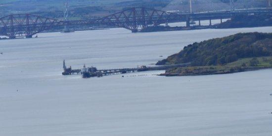 Burntisland, UK: Hounds point and the bridges