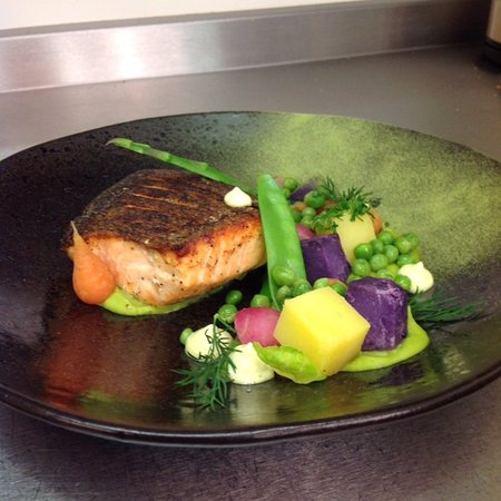 Poppy Seed Restaurant : Our salmon dish
