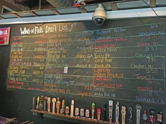 Shallotte, North Carolina: Draft beer list