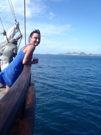 جزيرة جورس, سانت لوسيا: Enjoying the breeze