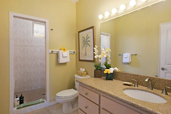 Kauai Cove Royal Suite Bathroom With Large Walk In Tiled Shower