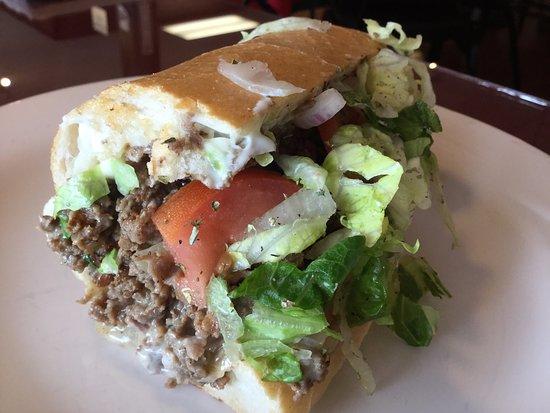 Stowe, Pensilvanya: Philly Cheese Steak Hoagie - pure awesomeness!