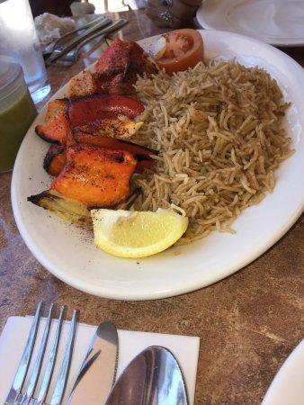 The restaurant eggplant borani fish kebob picture of for Afghan kebob cuisine menu