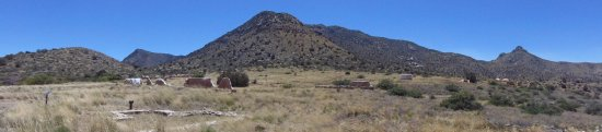 Fort Bowie National Historic Site: Panorama from the Visitor's Center Porch,
