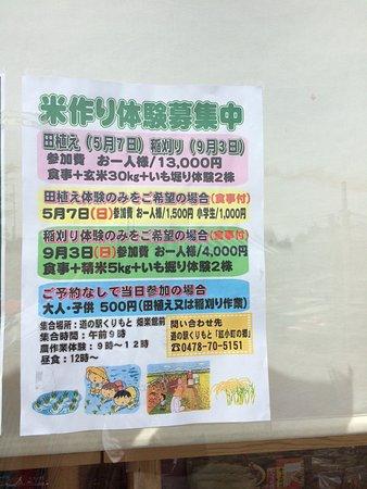 Katori, Japan: お米作り体験募集もありました