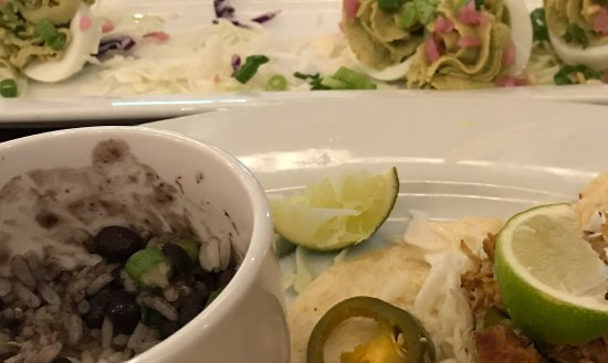 North Bethesda, MD: 3 pork tacos with rice and black beans it is!