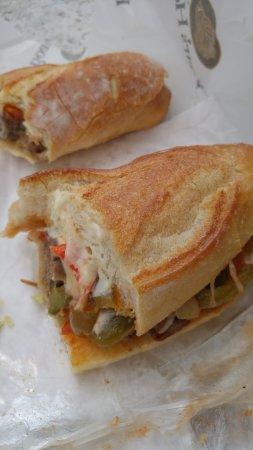 Mario's Italian Meat Market: inside submarine sandwich