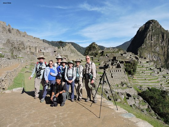 Tambopata National Reserve, Peru: Nice birding experience with nice people in the group. Here with the Classic Machu Picchu Photo.