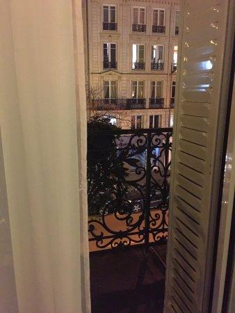 Meliá París Champs Elysées : Beautiful shutters leading out onto our room's balcony.