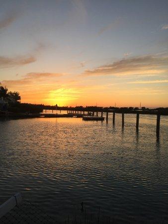 Hawks Cay Resort: Interactive dolphin area at sunset