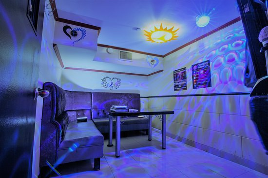 Flushing, NY: One of our 9 Private Karaoke Rooms! This room comfortably seats up to 6 guests.