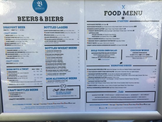 European Bier Cafe Lunch Menu
