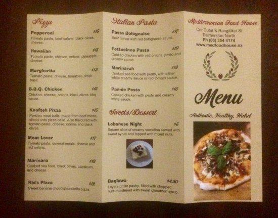 Picture of mediterranean food house for Mediterranean restaurant menu