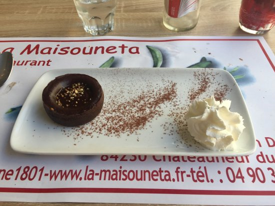 Chateauneuf-du-Pape, France: My formula menu choices at lunch