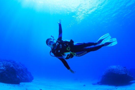 Piti, Mariana Islands: 透明度抜群のグアムの海です。