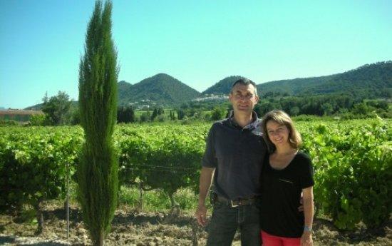 Sablet, Frankrig: Billedet er taget ved vineriet med Montmirail i baggrunden.