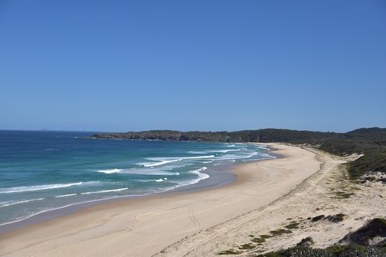 Seal Rocks, Australia: The view to the right going up to the lighthouse