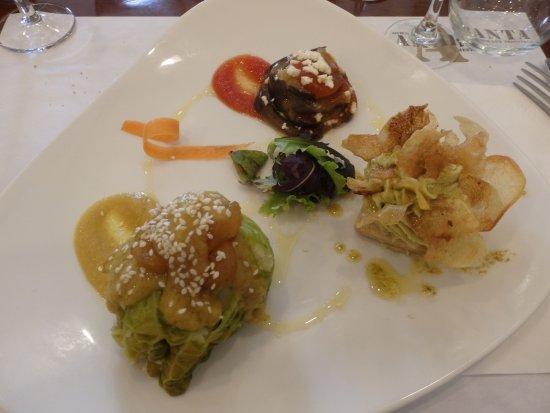 Amaranta, entrantes menú gastronómico