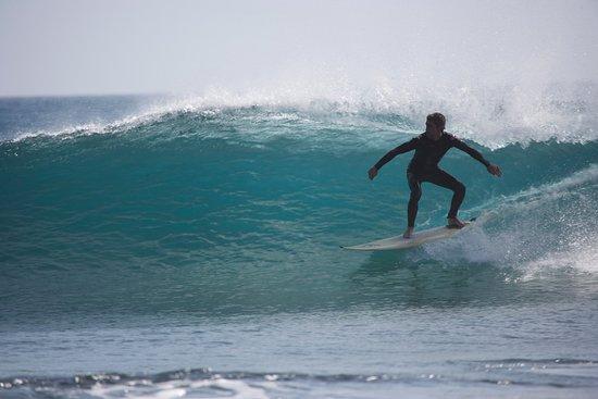 La Pared, España: Grüne Wellen für Fortgeschrittene Surfer