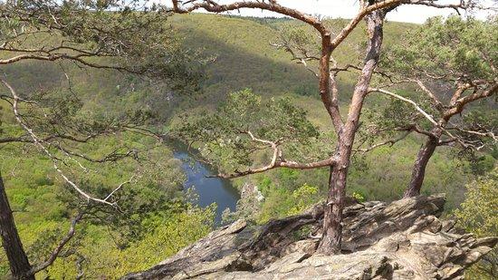 Znojmo, Çek Cumhuriyeti: Widok z jednego z większych wzniesień w parku.