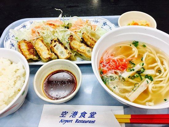 Airport Restaurant: モズク餃子定食