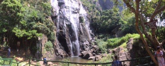 Bambarakanda falls - lower secti and foot of the falls