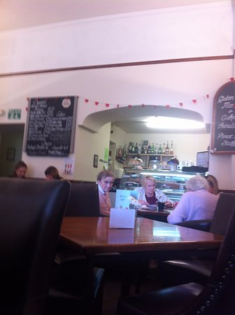 The Old Bank Restaurant: View from sitting at table to main counter