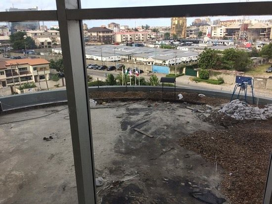 Four Points by Sheraton Lagos: Construction site replacing the only place to sit outside