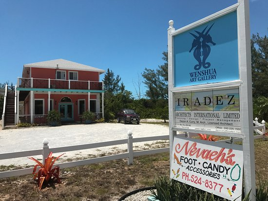 George Town, Great Exuma: Outside and Signage