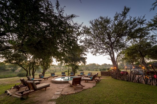Timbavati Private Nature Reserve, South Africa: View from main area towards boma and swimming pool