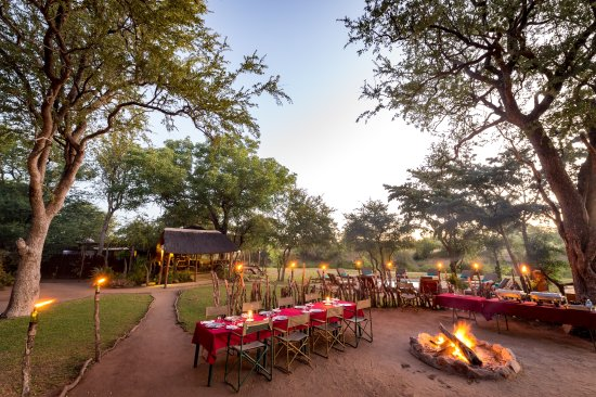 Timbavati Private Nature Reserve, South Africa: Boma, swimming pool and main area