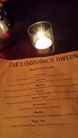 Sheffield, MA: Stagecoach signature cocktails are terrific!