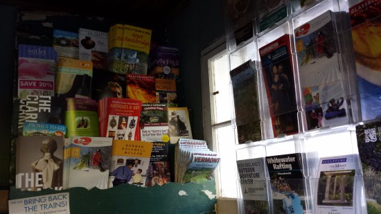 Sheffield, MA: They have a little shack full of tourist brochures and information. Self-serve.