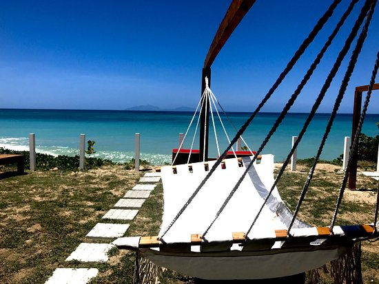 Crab Hill, Αντίγκουα: One of the Hammocks at Rum Bus