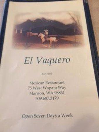 Manson, WA: The menu
