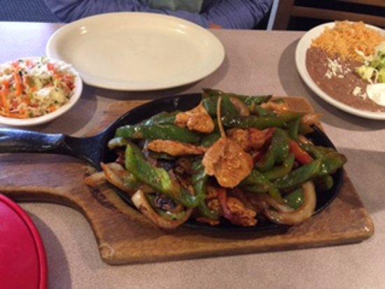 Manson, WA: chicken fajitas