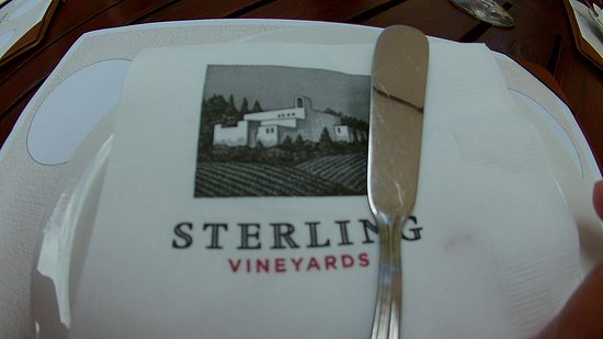 Sterling Vineyards: plate