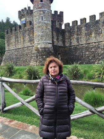 Castello di Amorosa: Em frente ao lindo Castello de arquitetura medieval!