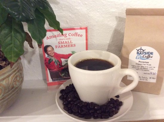 Charleston, OR: All our coffee is organically grown and Fairtrade.