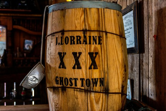 Manor, TX: J. Lorraine Ghost Town- old barrell